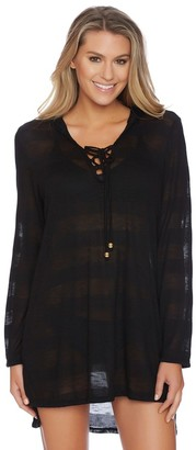 LUXE by Lisa Vogel Afterglow Knit Hoodie $138 thestylecure.com