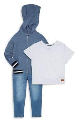 7 For All Mankind Little Boy's Three-Piece Bering Sea Jacket, Tee & Jeans Set
