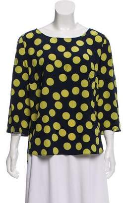 Akris Punto Long Sleeve Silk Blouse