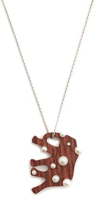 Marc Alary Diamond, Pearl & White Gold Necklace - Womens - Brown
