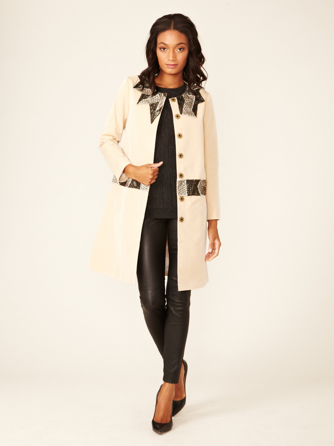 Gryphon Mosaic Beaded Trench