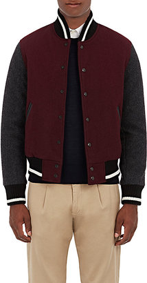 Golden Bear x Barneys New York GOLDEN BEAR X BARNEYS NEW YORK MEN'S CONTRAST SLEEVE BOMBER JACKET $495 thestylecure.com