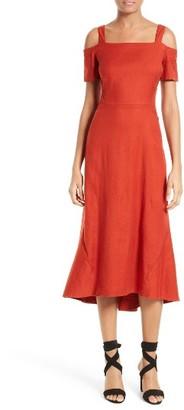 Women's A.l.c. Daniel Cold Shoulder Midi Dress $395 thestylecure.com