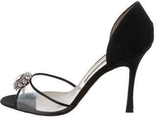 Brian Atwood Jewel PVC Peep-Toe Pumps $95 thestylecure.com