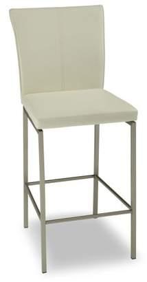 Leggett & Platt Cheyenne Metal Barstool with Glacier Finished Upholstered Seat and Stainless Steel Frame, 30-Inch