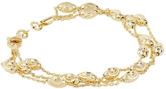 Links of London Yellow Gold Vermeil EssentialsThree Row Bracelet