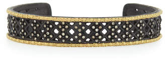 Old World Midnight Multi-Cravelli Carved Cuff with Diamonds