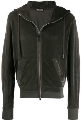 Tom Ford velvet zipped hoodie