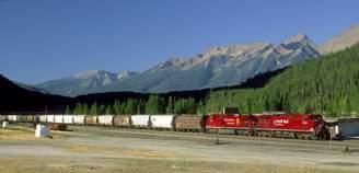 Columbia Wall Art Import Canadian Pacific Railway, Field, British Columbia, Canada Poster Print (44 x 23)