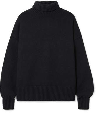 The Row Pheliana Oversized Cashmere Turtleneck Sweater - Black