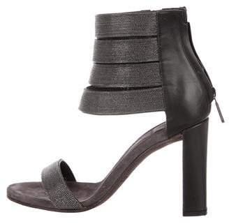 Brunello Cucinelli Embellished Suede Sandals
