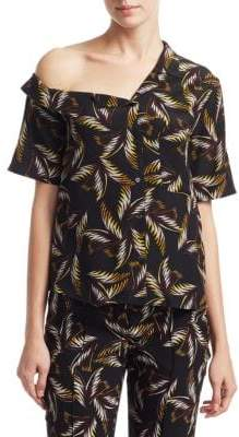 A.L.C. Josefine Palm-Print Top