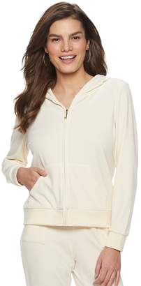 Juicy Couture Women s Graphic Velour Hoodie 0bfb0b71c