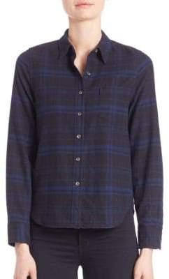 Equipment Kate Moss for Landon Cotton Plaid Shirt