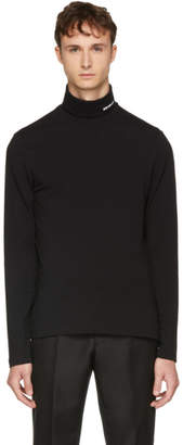 Calvin Klein Black Logo Turtleneck