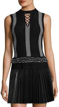 Derek Lam 10 Crosby Women's Ruffle & Lace Sweater