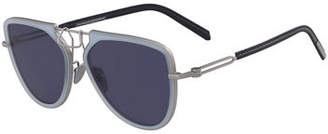 Calvin Klein Acetate & Metal Aviator Sunglasses