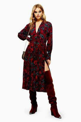 Topshop Paisley Print Oversized Shirt Dress