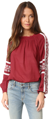 Love Sam Hungarian Peaches Embroidered Top $275 thestylecure.com