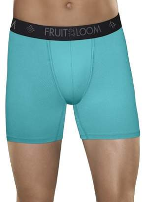Fruit of the Loom Men's Breathable Lightweight Micro-Mesh Print/Solid Boxer Briefs, 3 Pack