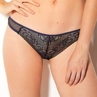 Billet Doux Lace and Dotted Tulle Briefs
