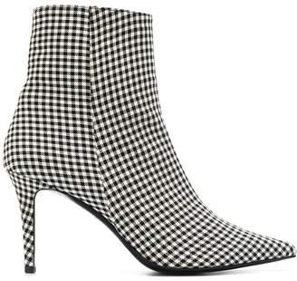 Barbara Bui plaid ankle boots