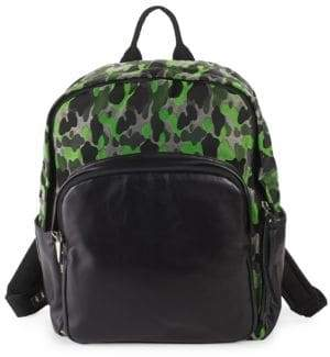 Giuseppe Zanotti Leather & Textile Camo Backpack