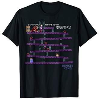 Nintendo Donkey Kong 8-Bit Side Scroll Graphic T-Shirt