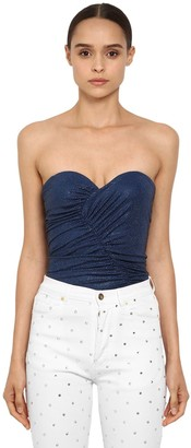 Alexandre Vauthier Crystal Embellished Jersey Top