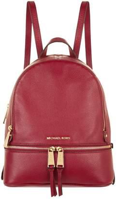 MICHAEL Michael Kors Medium Leather Rhea Zipped Backpack