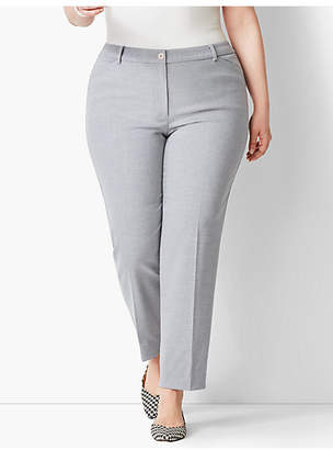 Talbots Plus Size High-Waist Tailored Ankle Pant - Heather