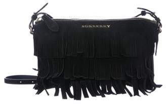 Burberry Suede Peyton Crossbody Bag Black Suede Peyton Crossbody Bag