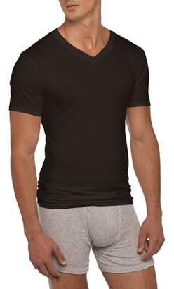 Gildan Big Mens 2XL Short Sleeve V-Neck Assorted Color T-Shirt, 4-Pack