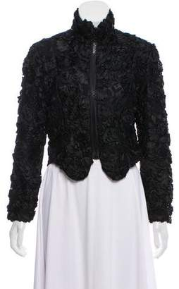 Geoffrey Beene Embroidered Lace Jacket