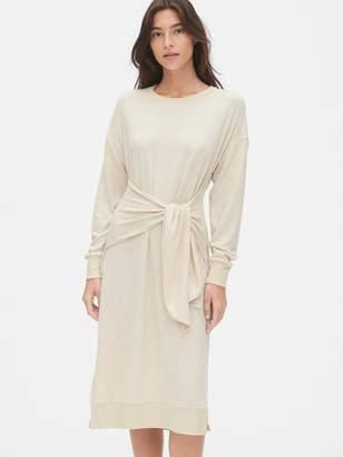 Gap Softspun Tie-Waist Midi Sweater Dress