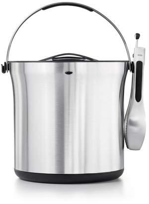 OXO Steel Ice Bucket & Tongs Set