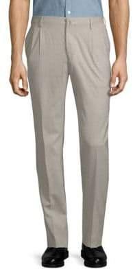 Incotex Slim-Fit Pleat-Front Wool Pants