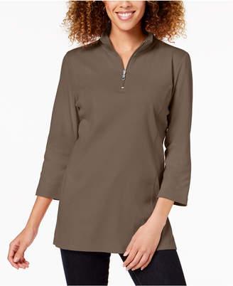 Karen Scott Cotton 3/4-Sleeve Top