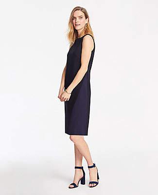 Ann Taylor Petite Ponte Colorblock Dress