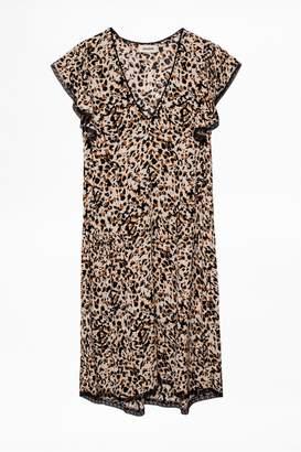 Zadig & Voltaire Ringo Leo Crinkle Dress
