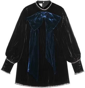 Gucci Jeweled trim velvet top