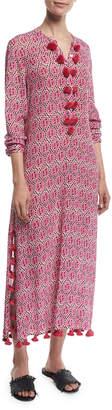 Figue Paolina Ikat-Print Maxi Caftan Dress