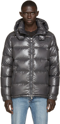 Moncler Charcoal Quilted Down Maya Jacket $1,175 thestylecure.com
