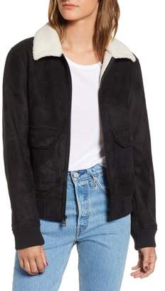 Levi's Faux Shearling Collar Bomber Jacket