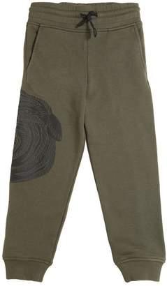 Snake Printed Cotton Sweatpants