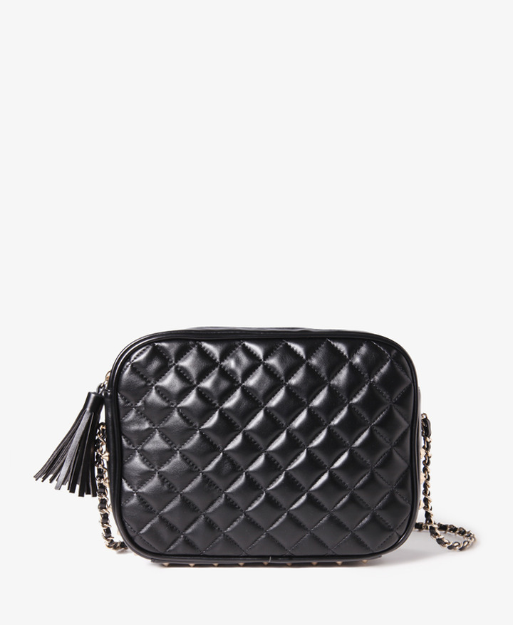 Forever 21 Quilted Spiked Crossbody