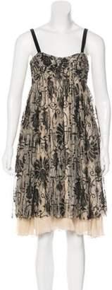 Diane von Furstenberg Sleeveless Knee-Length Dress Beige Sleeveless Knee-Length Dress