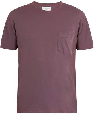 Officine Generale Asymmetric patch-pocket cotton T-shirt