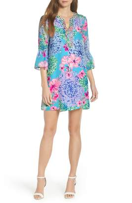 14f36e5bea9d2 Lilly Pulitzer R) Elenora Floral Embellished Silk Dress