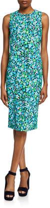 Michael Kors Floral Sleeveless Sheath Dress